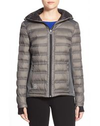 MICHAEL Michael Kors | Gray Mixed Media Down Jacket | Lyst