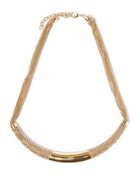 Chloé | Metallic Gold-tone Hope Semi Rigid Chain Collar Necklace | Lyst
