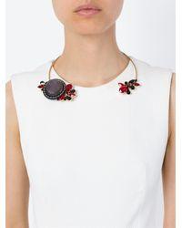 Marni - Metallic Flower Detail Open Choker - Lyst