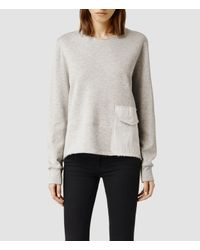 AllSaints | Gray Arno Sweat | Lyst