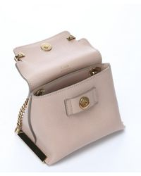 Chloé - Natural Rope And Beige Leather 'Clare' Mini Shoulder Bag - Lyst