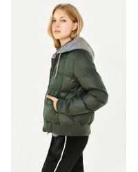 BB Dakota - Green Kiley Puffer Jacket - Lyst