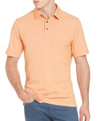Saks Fifth Avenue | Orange Pima Cotton Polo for Men | Lyst