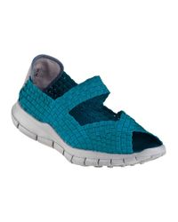 Bernie Mev   Blue Comfi Sandal Turquoise Fabric   Lyst