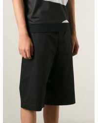 Alexander McQueen - Black Loose Fit Shorts for Men - Lyst