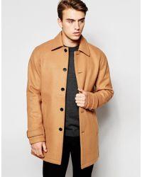 Produkt - Brown Wool Overcoat for Men - Lyst