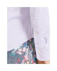Polo Ralph Lauren - Blue Knit Oxford Shirt - Lyst
