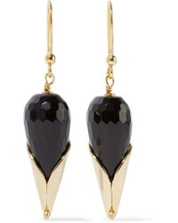 Rosantica   Black Calle Gold-tone Beaded Earrings   Lyst
