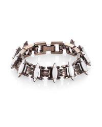 DANNIJO - Metallic Bette Crystal Link Bracelet - Lyst