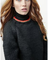 Wool And The Gang | Black In Chain Sweater | Lyst