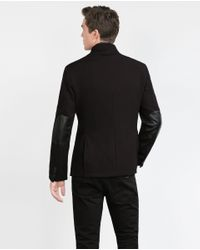 Zara | Black Blazer With Combined Interior for Men | Lyst