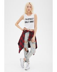 Forever 21 - White Smart Graphic Muscle Tee - Lyst