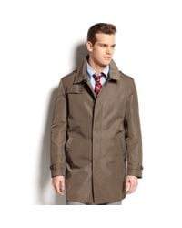 Tommy Hilfiger | Brown Dobby Textured Raincoat for Men | Lyst