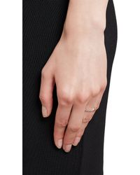 Cathy Waterman - Metallic Diamond Platinum Stackable Band - Lyst