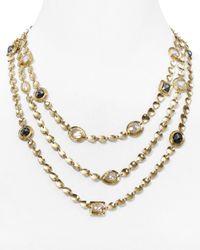 "Melinda Maria | Metallic Mighty Goddess Stone Triple Necklace, 17"" | Lyst"