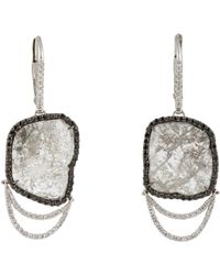 Sharon Khazzam | Metallic Pave & Slice Drop Earrings | Lyst