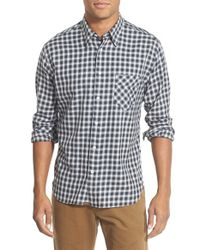 Billy Reid - Black 'walland' Standard Fit Check Sport Shirt for Men - Lyst