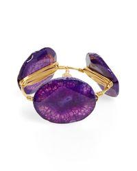Bourbon and Boweties | Agate Bracelet - Purple | Lyst
