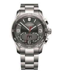 Victorinox - Metallic 'chrono Classic' Bracelet Watch for Men - Lyst