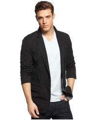 DKNY | Black Canvas Blazer for Men | Lyst