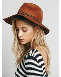 Free People | Brown Joplin String Wrapped Hat | Lyst