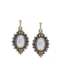 Armenta | Metallic Mixed Metal Gemstone Burst Drop Earrings | Lyst