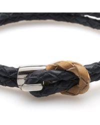 Miansai | Blue Savoy Navy Leather Woven Bracelet for Men | Lyst