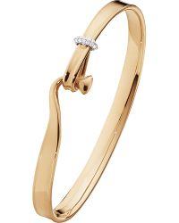 Georg Jensen | Metallic Torun 18ct Rose-gold And Diamond Bangle Small | Lyst