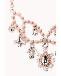 Forever 21 - Pink Sweet Elegance Bib Necklace - Lyst
