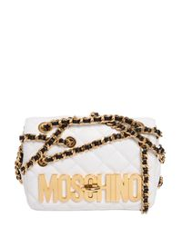 Moschino | White Quilted Crossbody Bag | Lyst