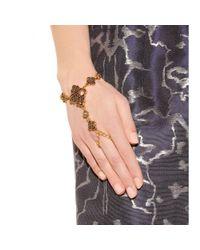 Oscar de la Renta - Multicolor Mosaico Swarovski Crystal-Embellished Finger Bracelet - Lyst