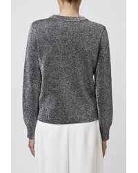TOPSHOP - Metallic Crew Neck Sweater By Boutique - Lyst