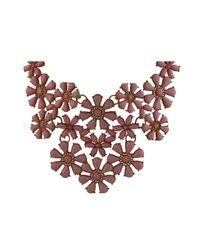 Ziba - Brown Freja Statement Necklace - Lyst