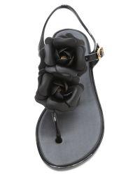 Melissa - Black Solar Garden Sandals - Lyst