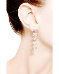 Dana Rebecca - Metallic One Of A Kind Moonstone Drop Earrings in 14k Rose Gold - Lyst