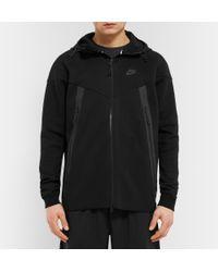 Nike - Black Cotton-blend Tech Fleece Hoodie for Men - Lyst