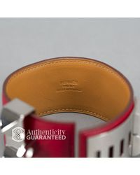 Hermès - Red Pre-owned: Leather Collier De Chien Cdc Bracelet for Men - Lyst