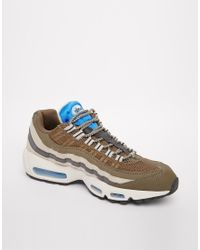 Nike | Gray Air Max 95 Trainers for Men | Lyst
