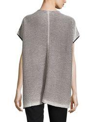 Lafayette 148 New York - Black Striped Cotton Vest - Lyst