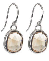 Monica Vinader - Metallic Silver Aquamarine Siren Wire Earrings - Lyst