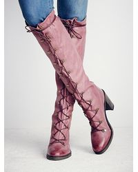 Free People | Purple Fp Collection Womens Memphis Lace Up Boot | Lyst