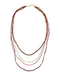 Nakamol - Multicolor Five-strand Long Pearl Necklace - Lyst