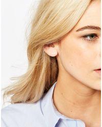 Dogeared | Metallic Sterling Silver Balance Bar Stud Earrings | Lyst