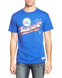 Mitchell & Ness - Blue 'philadelphia 76ers - Last Second Shot' Graphic T-shirt for Men - Lyst