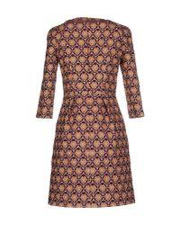 L'Autre Chose - Purple Short Dress - Lyst