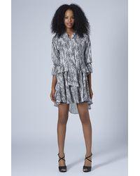 TOPSHOP - Metallic Limited Edition Lurex Maxi Dress - Lyst