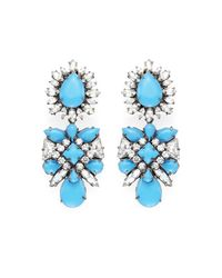 Shourouk | Blue Blondi Brandeis Earrings | Lyst