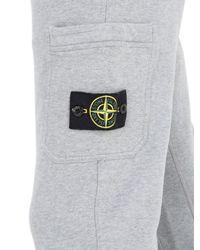 Stone Island - Gray Slim Fit Cotton Jogging Pants for Men - Lyst