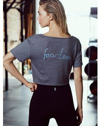Free People | Black Knotted Tee | Lyst