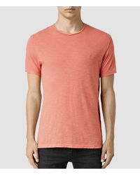 AllSaints | Orange Henning Crew T-shirt for Men | Lyst